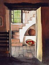 Original Oil Painting By Artist- Interior Room Gov Mansion San Antonio - $175
