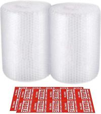 2 Pack Bubble Cushioning Wrap Roll Perforated Every 12 For Packaging 316