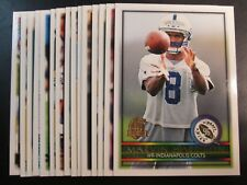 1996 Topps Indianapolis COLTS Team Set (15c) Marvin Harrison RC
