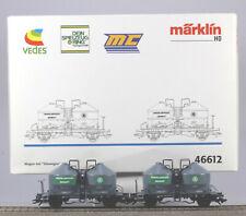 Märklin HO #46612 Heidelberger Zement Silo Two Car Set, N/BX, 2002 only