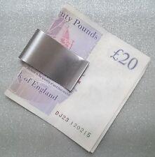 Nueva Nota de Acero Inoxidable Plateado dinero en efectivo tarjeta titular Clip Regalo Billetera delgada