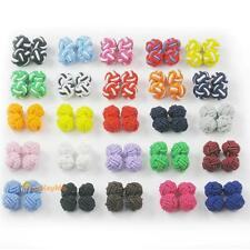 Silk Knot Cufflinks Cuff Links Mix Color 20 Pairs 40 pcs RB23Mx