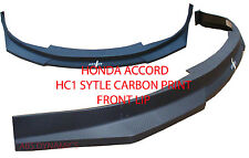 HC1 Carbon Print Style Front Lip for 2003 2005 Honda Accord Coupe(2dr) Non V6