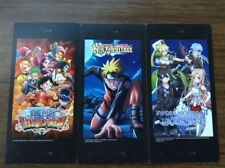 NYCC 2017 Bandai Namco Set of 3 Mission Cards Naruto Sword Art Online One Piece