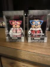 "2 Disney Vinylmation - 3"" VINYL Collectable Figure Nerd Series Mickey And Minnie"