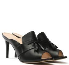 DANIEL Footwear Tasseta Womens UK 5 EU 38 Black Leather High Heel Mule New Shoes
