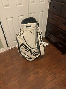 Vintage Ping Staff Golf Bag - White - Comes With Rain Cover - 1 Messed Up Zipper