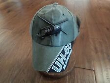 ARMY UH-60 BLACKHAWK HAT EMBROIDERED MILITARY BALL CAP STONE WASHED OD GREEN