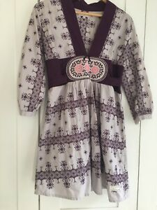 ODD MOLLY Dress Over The Top Pink Pure Cotton Casual Embroidery 6-8 Last One