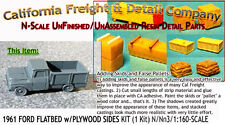 1961 FORD FLATBED PICKUP w/PLYWOOD SIDES  N/1:160-CAL Freight & Details Co *NEW*