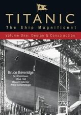 Titanic: The Ship Magnificent: Volume 1: Design and Construction, New Books