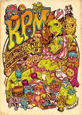 Rockin' Jelly Bean EROSTIKA R.P.M. offset print poster JAPAN F/S Rare
