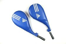 Adidas Taekwondo Double Paddle Hand Clapper Target Kick Strike Pads (2 Pads)