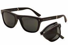 Burberry Men's BE4204 BE/4204 3001/5V Black Fashion Folding Sunglasses 54mm