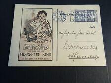 Nederland 225 2x op briefkaart ten bate van Misdeelde Kind 1930 naar Den Haag