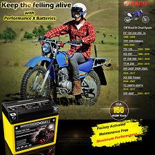 AGM Battery Yamaha 12V 7Ah TDR125 R DT125 DT230 TW125 AG200  XT 225 XT250 YTX5L
