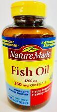 Nature Made FISH OIL 1200mg 360 mg OMEGA-3 Healthy Heart 100 Softgels-C9
