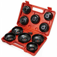 Universal 10pcs Oil Change Filter Cap Wrench Cup Socket Tool Set