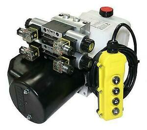Flowfit 24V DC Double Acting Double Solenoid Hydraulic Power pack 4.5L Tank ZZ00