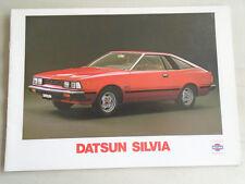 Datsun Silvia range brochure Jan 1980 Dutch text