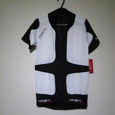BNWT Kinetik Compresión Jersey Manga Corta Ciclismo Gear S Blanco/Negro Deporte