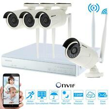Wireless Wifi 4CH HD 720P IP Network Home Security Outdoor Camera NVR Kit US