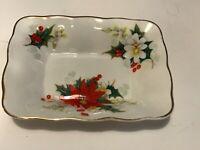 Royal Albert England Yuletide Christmas Bone China Rectangular dish