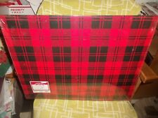 """Supersize Huge Plaid Gift Box ~ 21.88"""" X 17.88"""" X 7"""" ~ Very Large ~ New"""