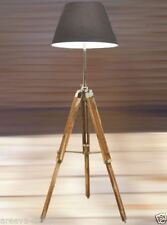 Nautical Teak Wood Tripod  Floor Lighting Lamp Use With Shade Home Decor.