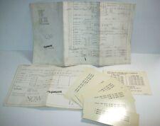 Now Pinball Machine Original Schematics & Card Lot Gottlieb Game Paperwork 1971