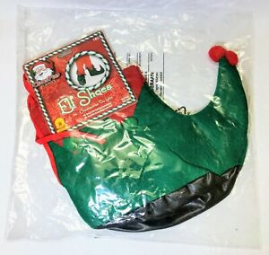 Elf Shoes Claus Play Christmas Holiday Fancy Dress Holiday Costume Accessory