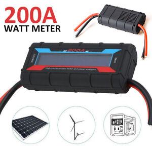 200A Digital Monitor LCD Volt Amp Watt Meter RC Battery Solar Power Analyser US