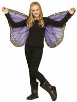 Child Soft Cloth Purple Fabric Butterfly Wings Costume Accessory