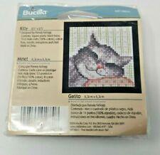 "Bucilla Kitty  2.5 x 2.5"" counted cross stitch kit NIP quick ornament M91880C"