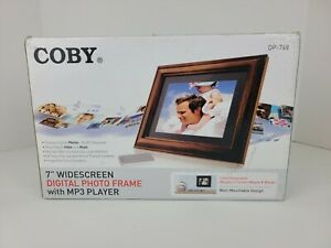 """Coby 7"""" Widescreen Digital Photo Frame with MP3 Player DP-768"""