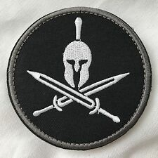SPARTAN Crossover Swords Tactical BLACK OPS MORALE EMBROIDER Hk/Lp ROUND Patch
