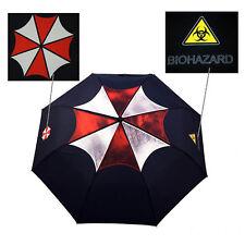 Resident Evil Schwarz Regenschirm mit Logo von Umbrella Corporation für Fans Neu