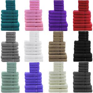 10 PIECE TOWEL BALE SET 100% LUXURY SOFT EGYPTIAN COTTON FACE HAND BATH TOWELS