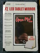 Ellie Xl Led Tablet Mirror Case 4 Hour Charge Life, Portable
