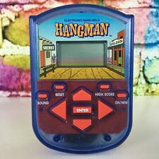 HANGMAN Handheld Electronic Vintage Pocket Game 1995 Milton Bradly Travel Words