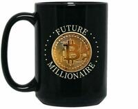 Bitcoin Mug, Cryptocurrency Coffee Cup, Future Millionair Mug, Gift For Mom