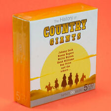 COUNTRY GIANTS 5 CD COFANETTO Johnny Cash Willie Nelson Kenny Rogers Patti Page