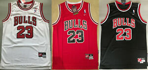 23# Michael Jordan Chicago Bulls Men's Stitched Jerseys Black & Red & White NEW