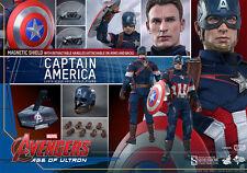 "HOT TOYS Avengers Age Ultron CAPTAIN AMERICA 12"" Figure Sideshow Chris Evans"