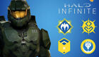 Halo infinite - 4 Exclusive Player Emblems - VERY RARE - REDEEM NOW
