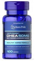 Puritan's Pride DHEA50mg -100 Tabletten Energie Stress LIBIDO * EXP:2023