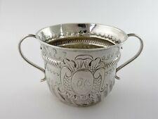 Queen Anne SILVER CAUDLE CUP PORRINGER, London 1706 by Nathaniel Lock BRITANNIA