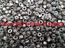 (100) 1/4-20 Coarse Thread Grade 8 Nylon Insert Hex Lock Stop Nut Plain 1/4 x 20