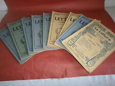""""""" La lettura """"- 8 numeri anni 1901-1903"""