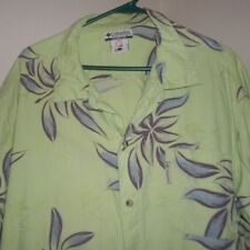 Columbia Hawaiian Fishing Shirt Large Cotton Sailfish Marlin Fish Cool !!!!